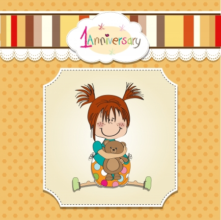special event: little girl on the first anniversary