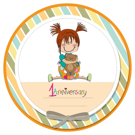 little girl on the first anniversary