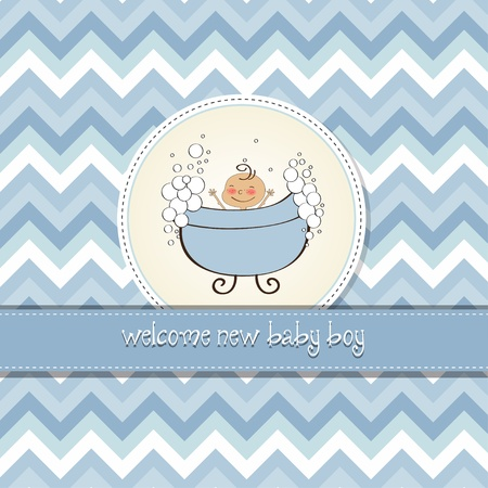 baby boy shower card Stock Vector - 14492504