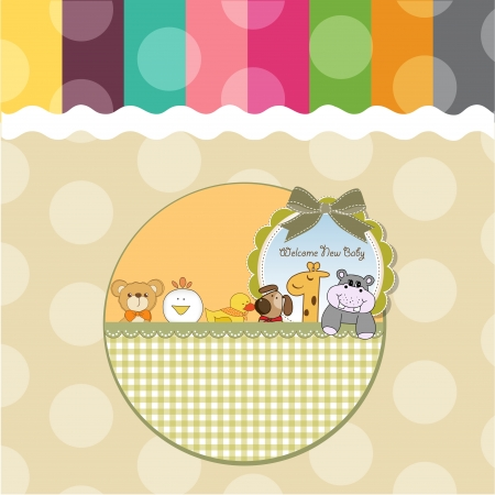moments: baby shower card with funny animals