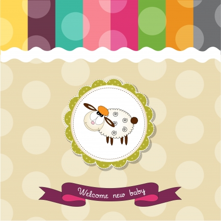 baby shower card with sheep Stock Vector - 14538867