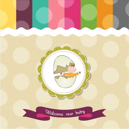 baby shower card Stock Vector - 14538862