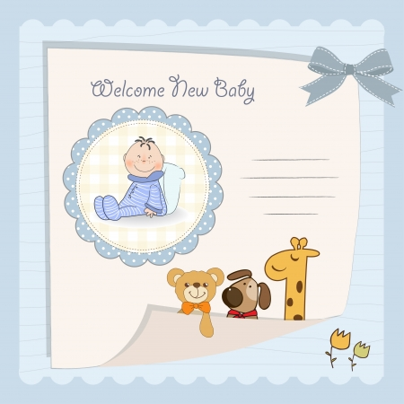 anniversary invitation: baby boy shower card