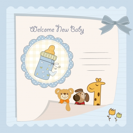baby boy shower card Stock Vector - 14707448