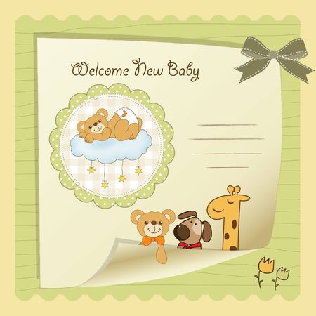 baby shower card Stock Vector - 14707537
