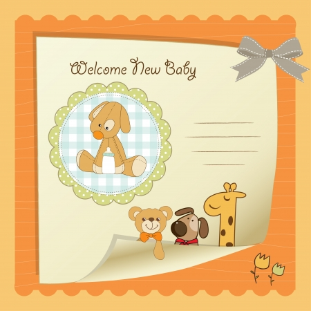 baby shower card Stock Vector - 14702698