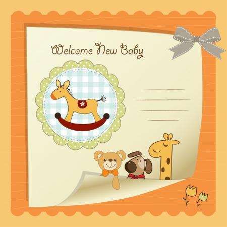 niño y niña: Tarjeta de Baby Shower