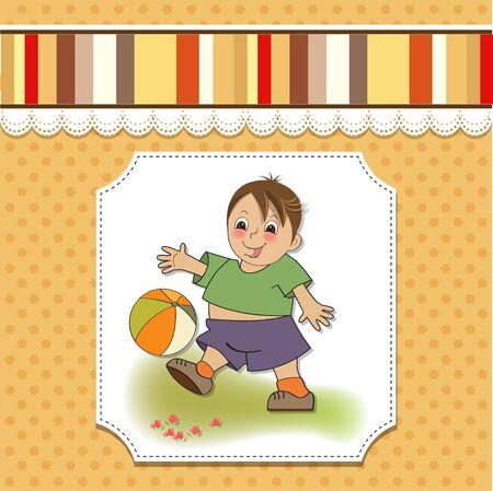 little boy playing ball Stock Vector - 14702677