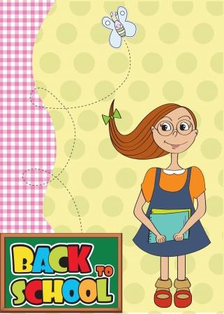 Funny schoolgirl Stock Vector - 14771077