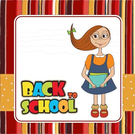 Funny schoolgirl Stock Vector - 14771085