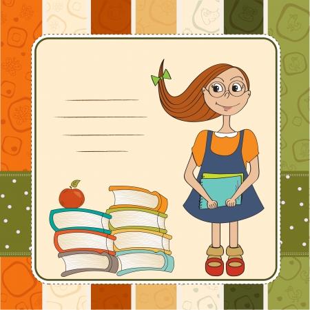Funny schoolgirl Stock Vector - 14771082