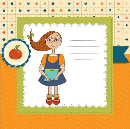 Funny schoolgirl Stock Vector - 14771073