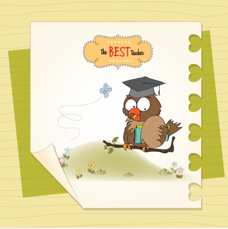 Owl Teacher Stock Vector - 14840808