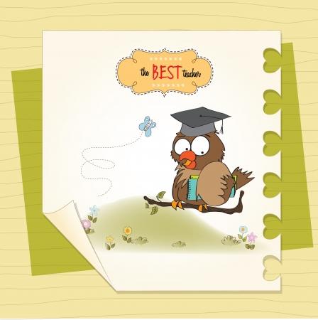 college professor: Owl Teacher
