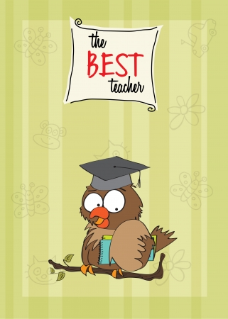 Owl Teacher Stock Vector - 14840795