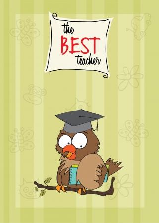buho graduacion: Owl Teacher