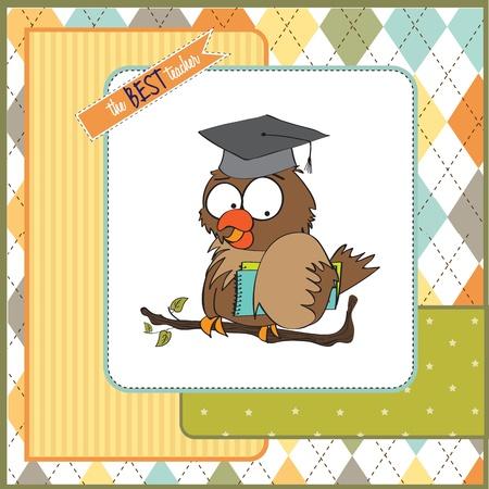 scholar: Owl Teacher  in vector format