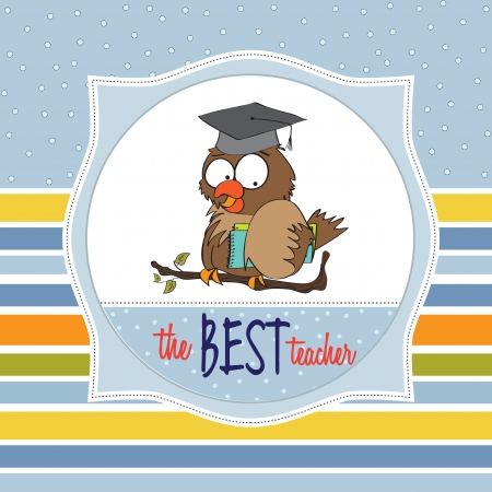 Owl Teacher Vector