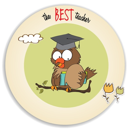 Owl Teacher  in vector format Vector