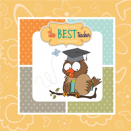 Owl Teacher Stock Vector - 14840807