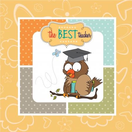 Owl Teacher Stock Vector - 14840807