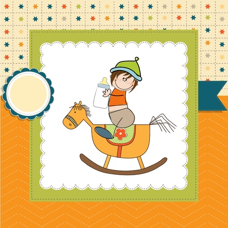 particularly: baby boy shower shower with wood horse toy