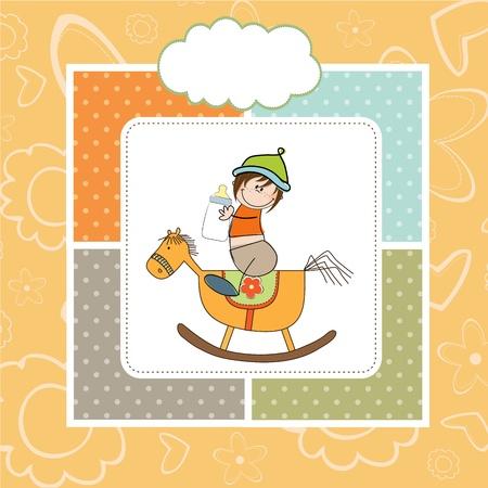 teteros: bebé ducha ducha con el caballo de madera de juguete