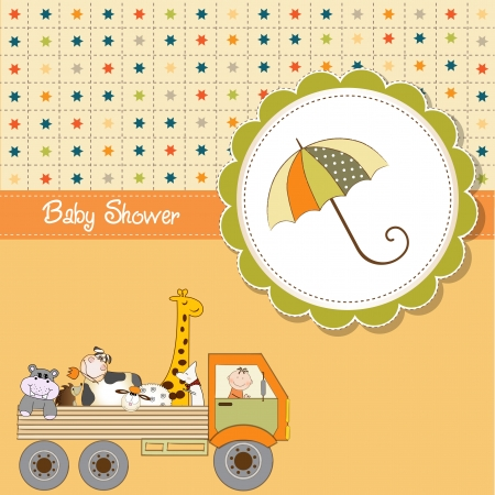 funny cartoon baby shower card Vector