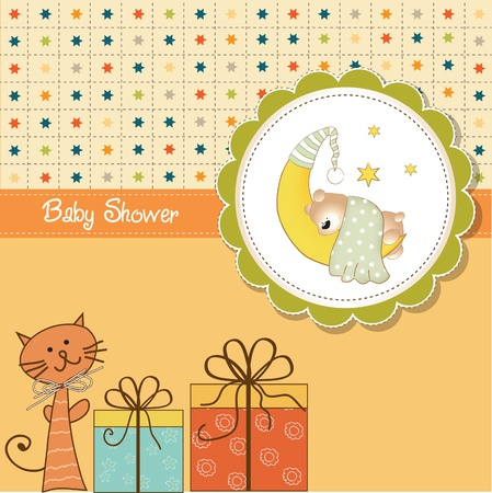 funny cartoon baby shower card Stock Vector - 15225541