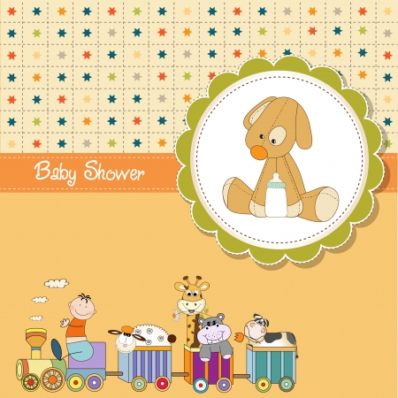 baby boy shower: funny cartoon baby shower card