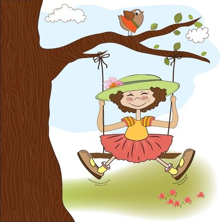 hi hat: funny girl in a swing