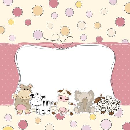 cute: Baby-Dusche-Karte