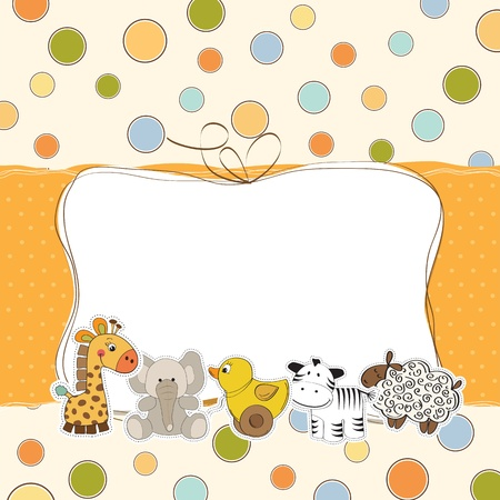specifically: baby shower card Illustration