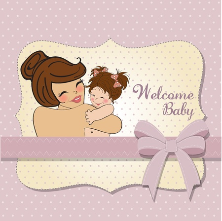pretty young mother holding a new baby girl Stock Vector - 15806902