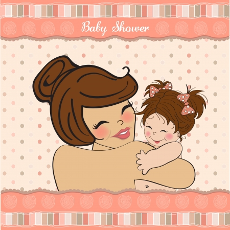 pretty young mother holding a new baby girl Stock Vector - 15806905