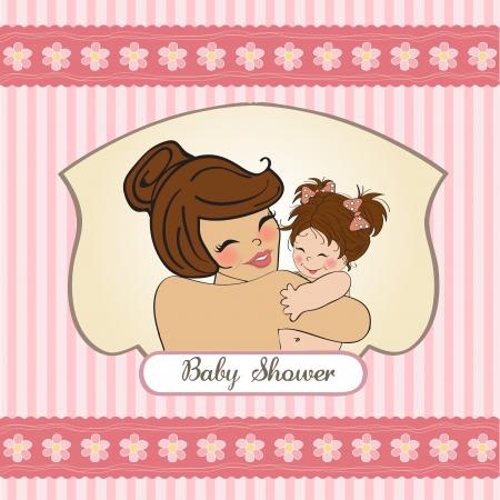 mums: madre bastante joven con un beb� nuevo Vectores