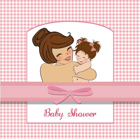 pretty young mother holding a new baby girl Stock Vector - 15806893