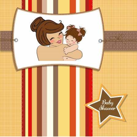 pretty young mother holding a new baby girl Stock Vector - 15806890