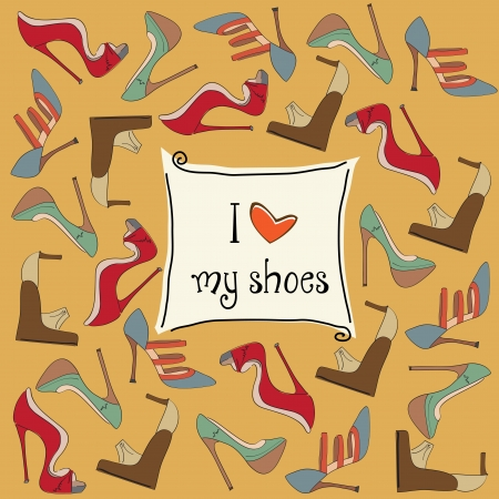 shoes background Vector