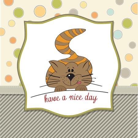 babyish: cute kitty wishes you a nice day