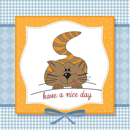 cute kitty wishes you a nice day Stock Vector - 16125908