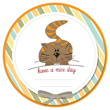 face card: cute kitty wishes you a nice day