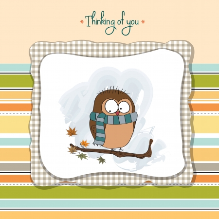 funny male bird with scarf Vector