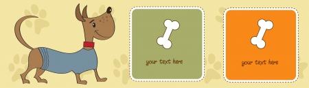 happy little cute dog Stock Vector - 16244750