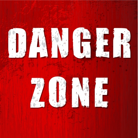 forbidden to pass: danger zone  old sign in vector format
