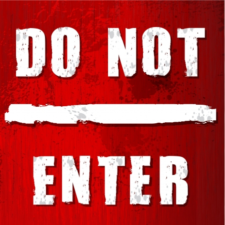 Red do not enter sign in vector format Stock Vector - 17349882