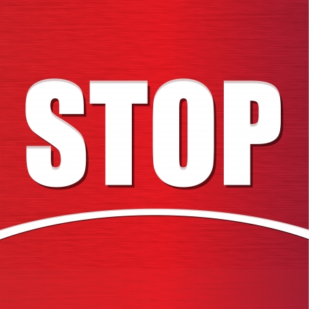 red stop sign in vector format Vector