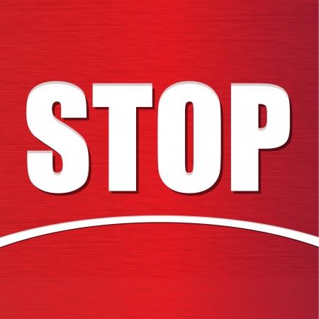 red stop sign in vector format Stock Vector - 17349877
