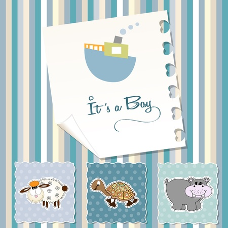 baby boy shower invitation Stock Vector - 17671324