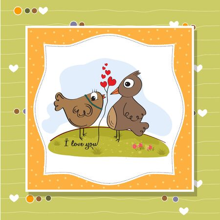 love birds, romantic illustration Stock Vector - 17671748